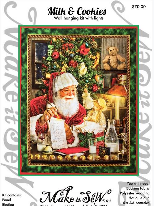 Milk & Cookies Christmas Wall hanging  Kit