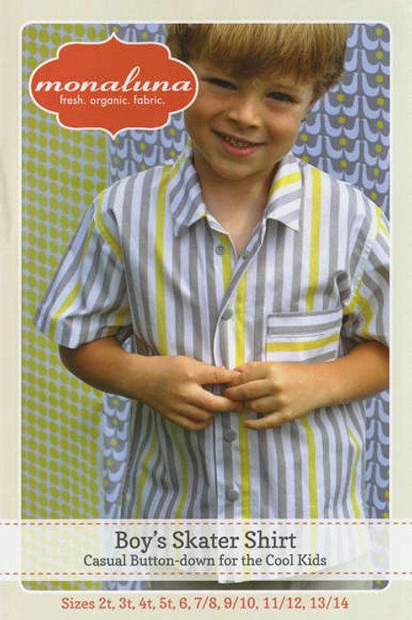 Boy Skater Shirt Pattern