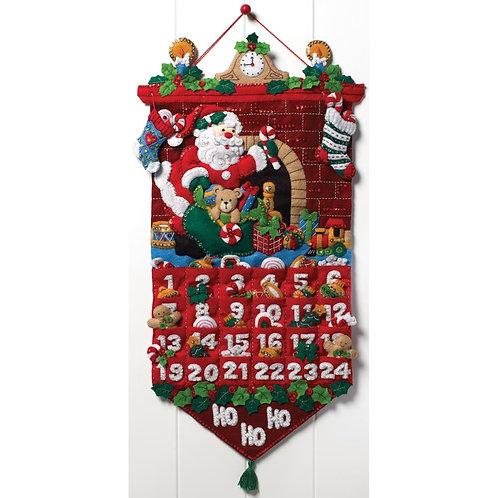 Bucilla Felt Kit - Must be Santa Advent Calendar