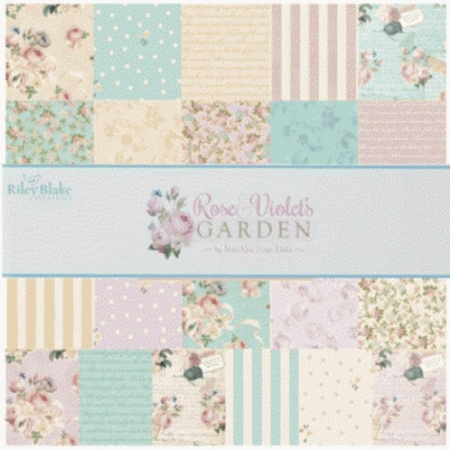 "Rose & Violet's Garden - 2 1/2"" stripes"