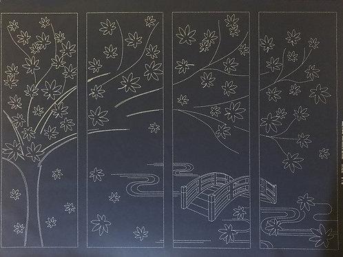 Maple Tree Sashiko Panel