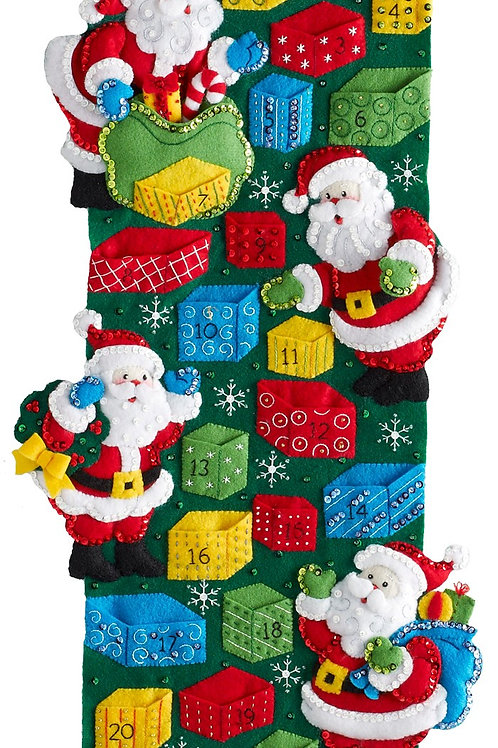 Bucilla Felt Kit - Santa's Advent Calendar