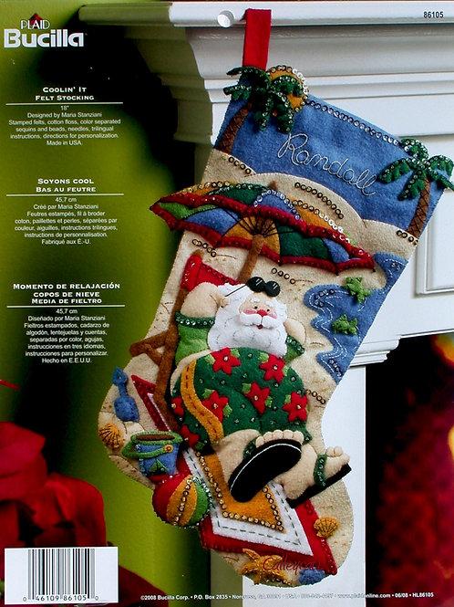 Bucilla Felt Stocking Kit - Coolin' It