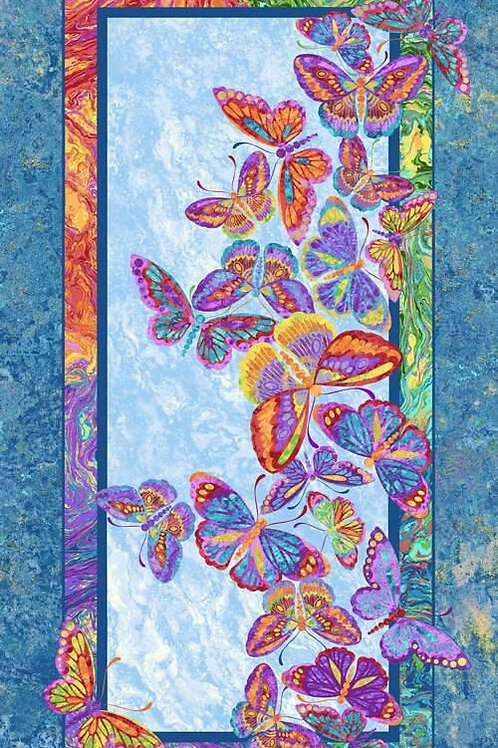 Butterflies are Free Fabric Panel