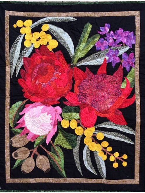 Waratahs - Australian Wild Flowers Art Quilt Kit