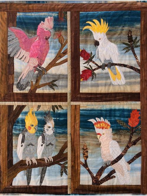 Australian Parrots Art Quilt Kit