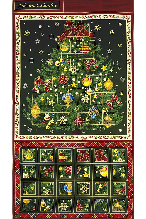Highland Tree Advent Calendar Panel