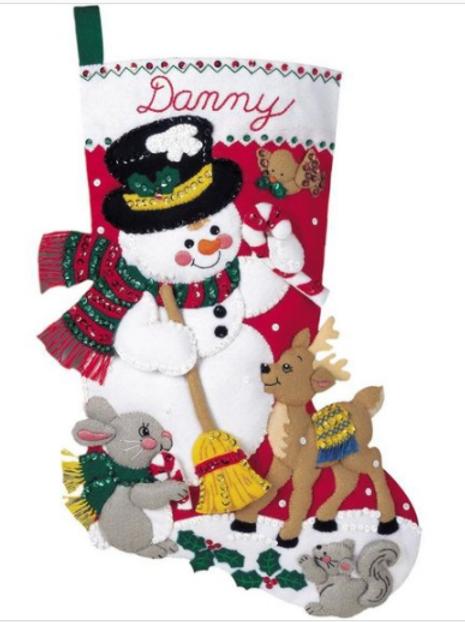 Bucilla Felt Stocking Kit - Snowman & Friends