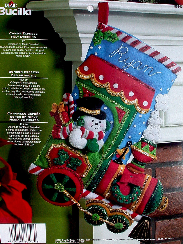 Bucilla Christmas Stocking Kits.Bucilla Felt Stocking Kit Candy Express