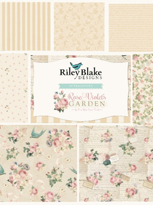 Rose & Violet's Garden Fat Quarter Bundle - Neutral