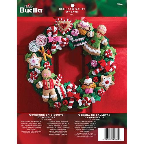 Bucilla Felt Kit - Cookies and Candy Wreath