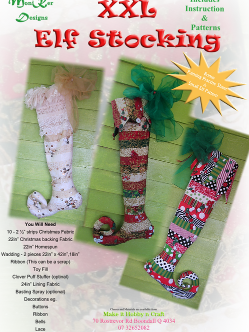 XXL ELF STOCKING - Pattern