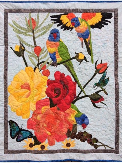 Lorikeets Art Quilt Kit
