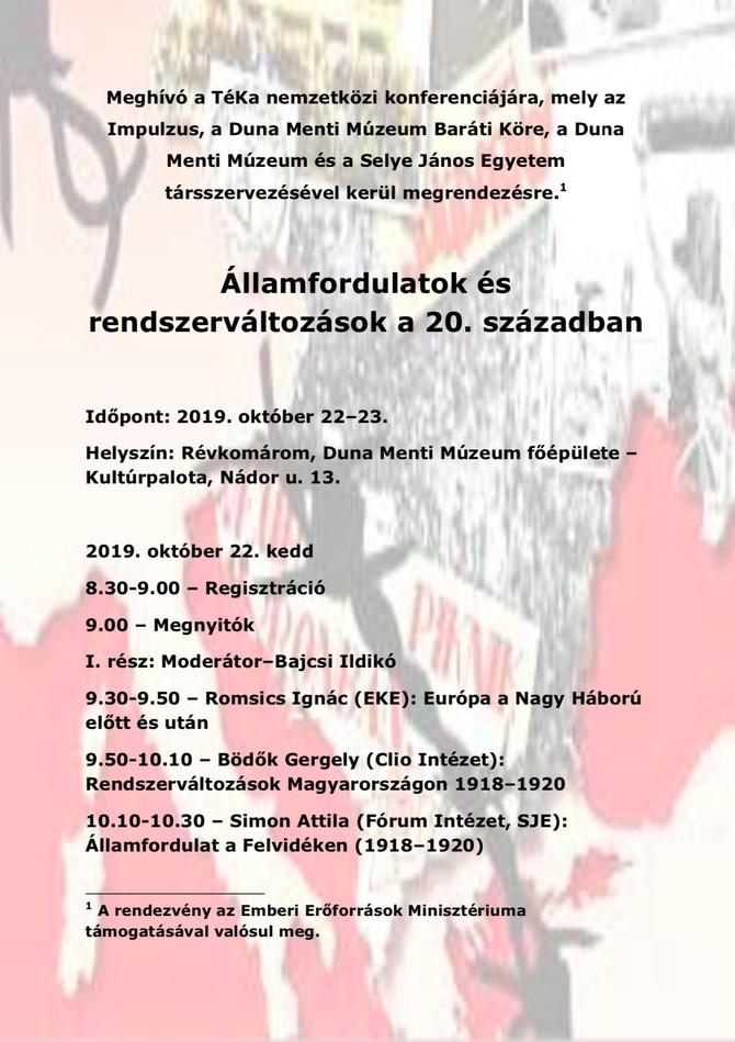 Rendszerváltások Magyarországon 1918–1920. Komárom, október 22.