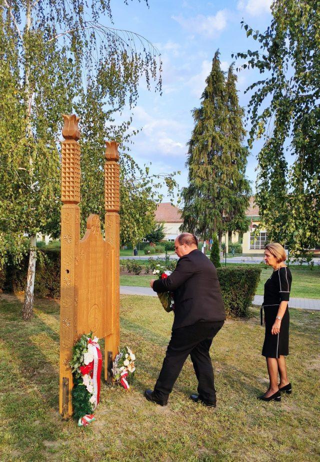 Megemlékezés lengyel hősökre. Madaras, 2021. szeptember 13.