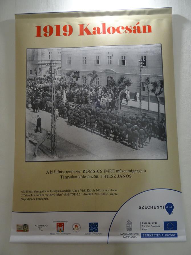 """Megnyitóbeszéd az """"1919 Kalocsa"""" kiállítás alkalmával. Kalocsa, szeptember 21."""