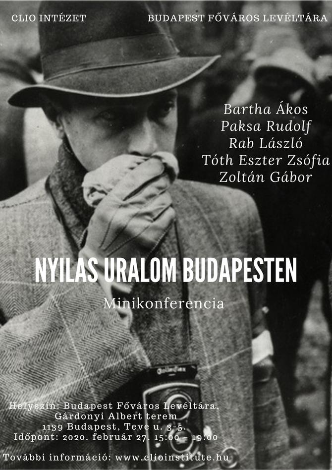 Nyilas uralom Budapesten – Minikonferencia, február 27.