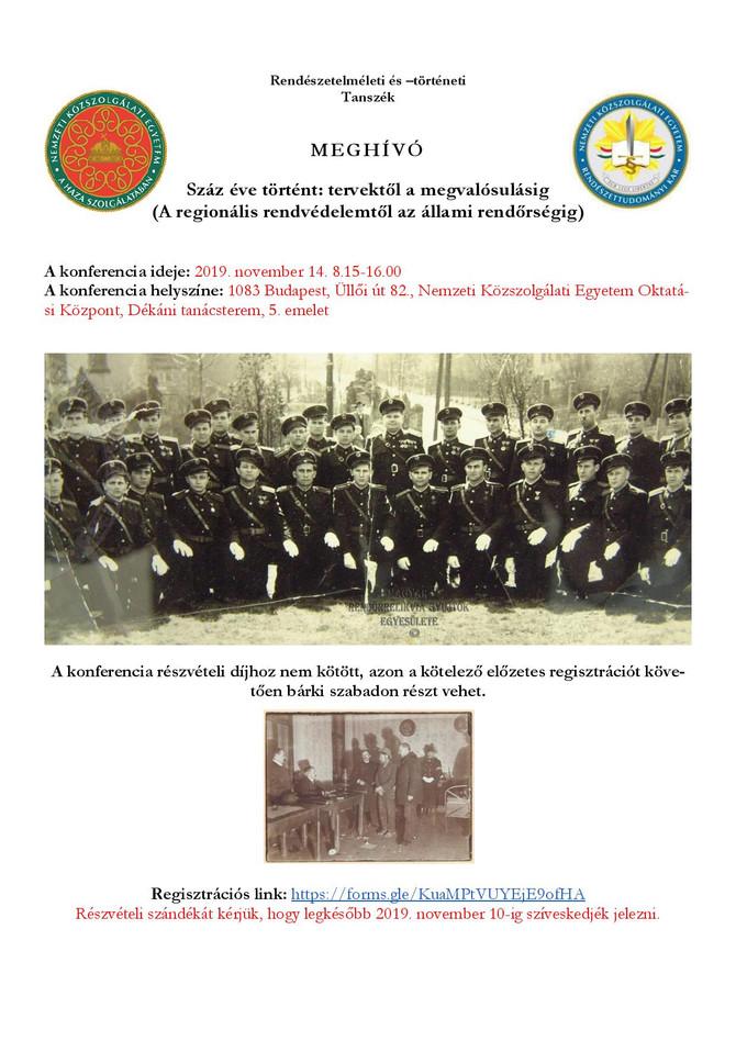 Végső István: A kiskunhalasi rendőrség 1919-ben. November 14, Nemzeti Közszolgálati Egyetem