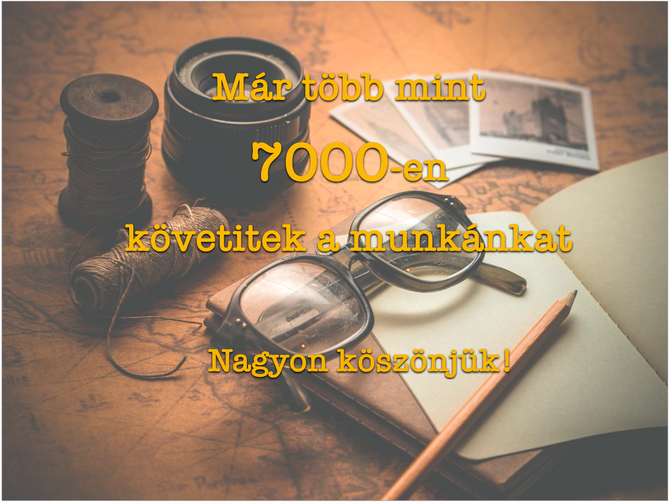 7000 követő a facebook-on!