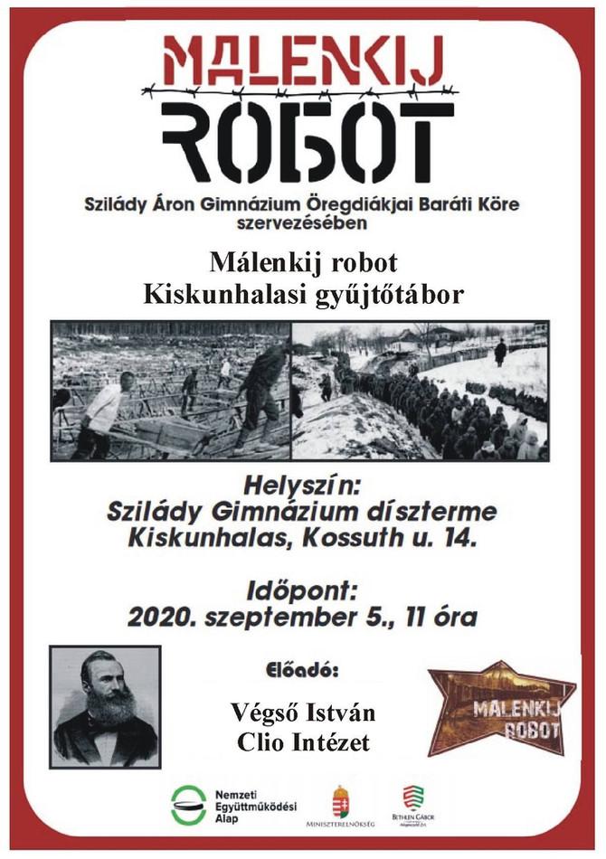 Végső István előadása a málenkij robot kiskunhalasi eseményeiről. 2020. szeptember 5.