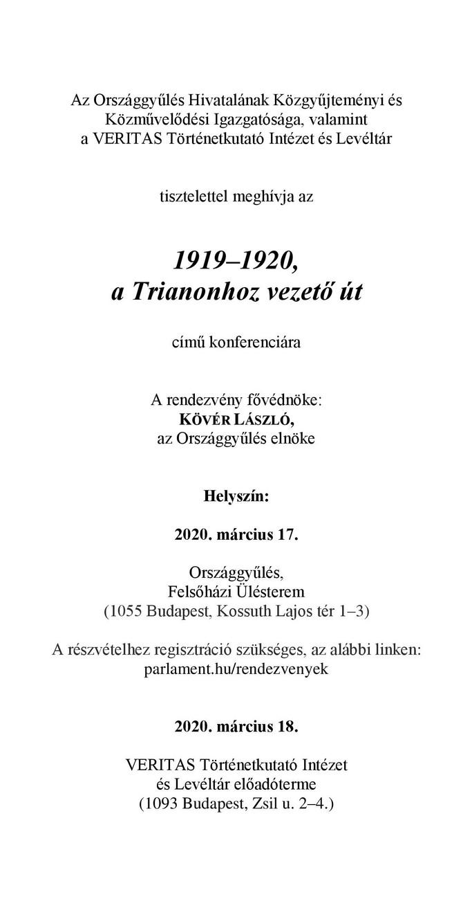 Kosztyó Gyula: Ung, Bereg, Ugocsa és Máramaros vármegyék antant megszállása 1919-ben. Előadás, 2020.
