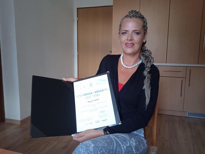 Kehila-díjat kapott Bajcsi Ildikó