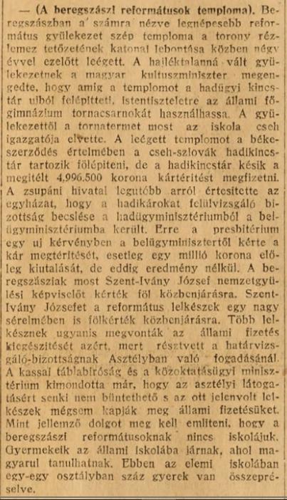 """""""Te kutya, bitang magyar"""" – Tüntetés a trianoni békediktátum ellen és cseh retorziók 1921-"""