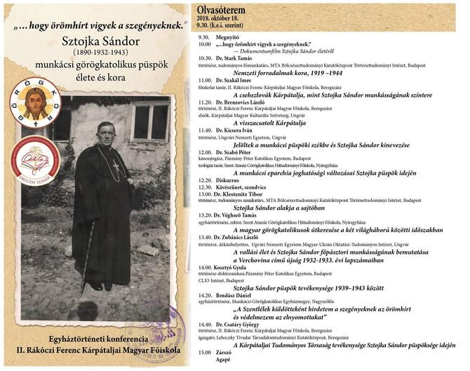 """""""...hogy örömhírt vigyek a szegényeknek"""" - Sztojka Sándor munkácsi görögkatolikus püspök t"""