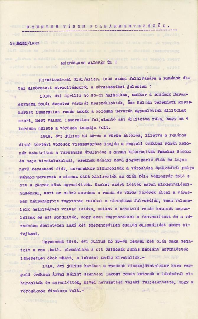 Atrocitások Békés és Csongrád megyében a román megszállás idején (1919–1920)