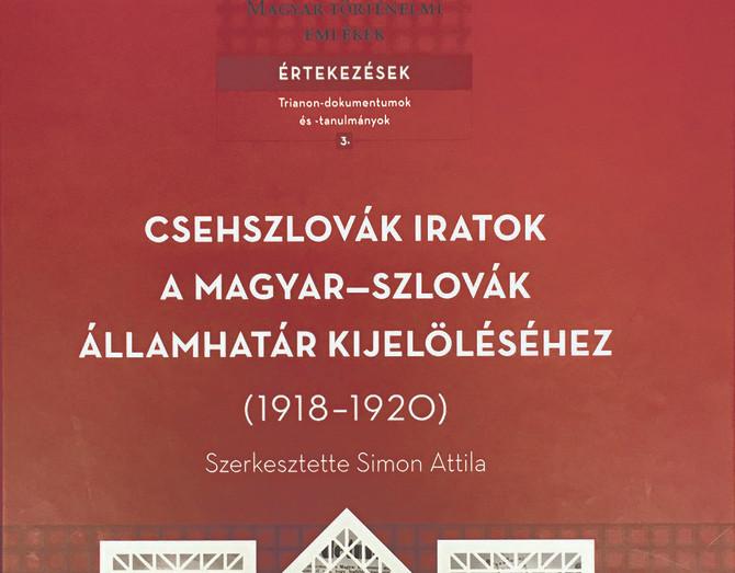 """""""Holnap kénytelen leszek újra Londonba utazni"""" – Csehszlovák–magyar határdiplomácia 1918–1920"""