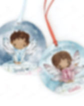 Hanging Ornament - Round - Cute Pixie:Fa