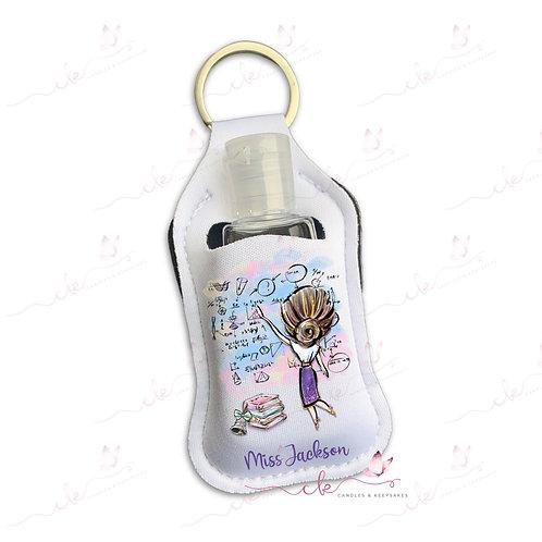 Personalised Hand Sanitiser Keyring - Teacher Design