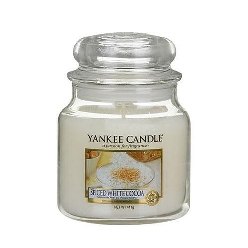 Yankee Candle Medium Jar Spiced White Cocoa