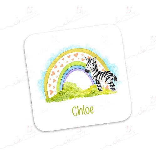 Personalised Coaster - Safari Design - Zebra