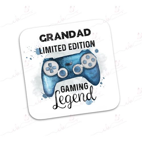 Personalised Coaster - Limited Edition Gaming Legend Design - Blue