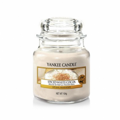 Yankee Candle Small Jar Spiced White Cocoa