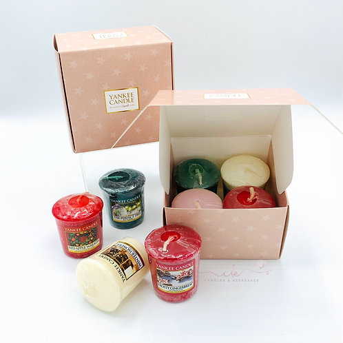 Yankee Candle Votive Candle Gift Sets - 8 x Mixed Votives + 2 Gift Boxes
