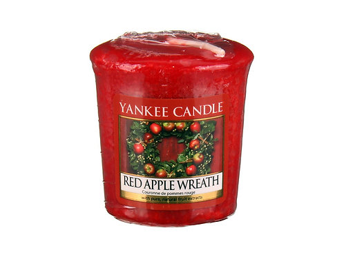 Yankee Candle Votive Candle Red Apple Wreath