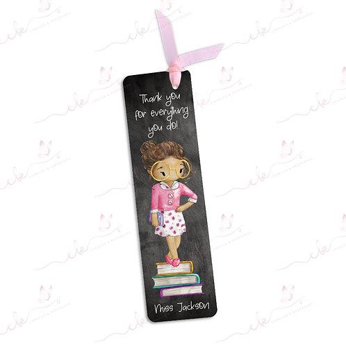 Personalised Bookmark - Teacher - Blackboard Design