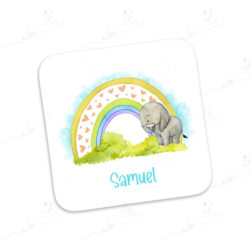 Personalised Coaster - Safari Design - Elephant