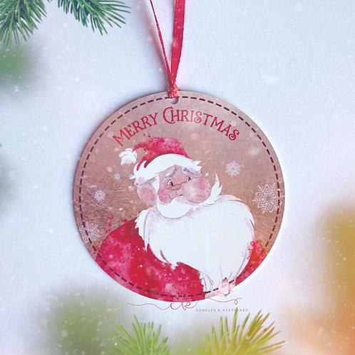 Personalised Hanging Plaque - Santa Claus