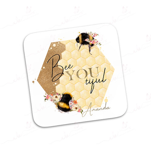 Personalised Coaster - Bumble Bees - Bee-you-tiful Design