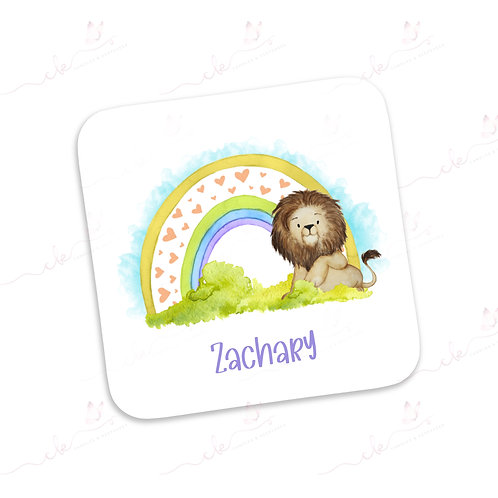 Personalised Coaster - Safari Design - Lion