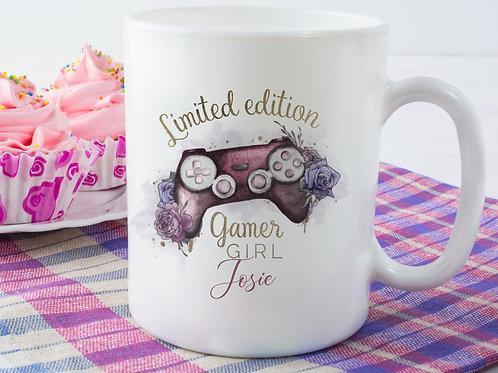 Personalised Mug - Limited Edition Gamer Girl - Pink