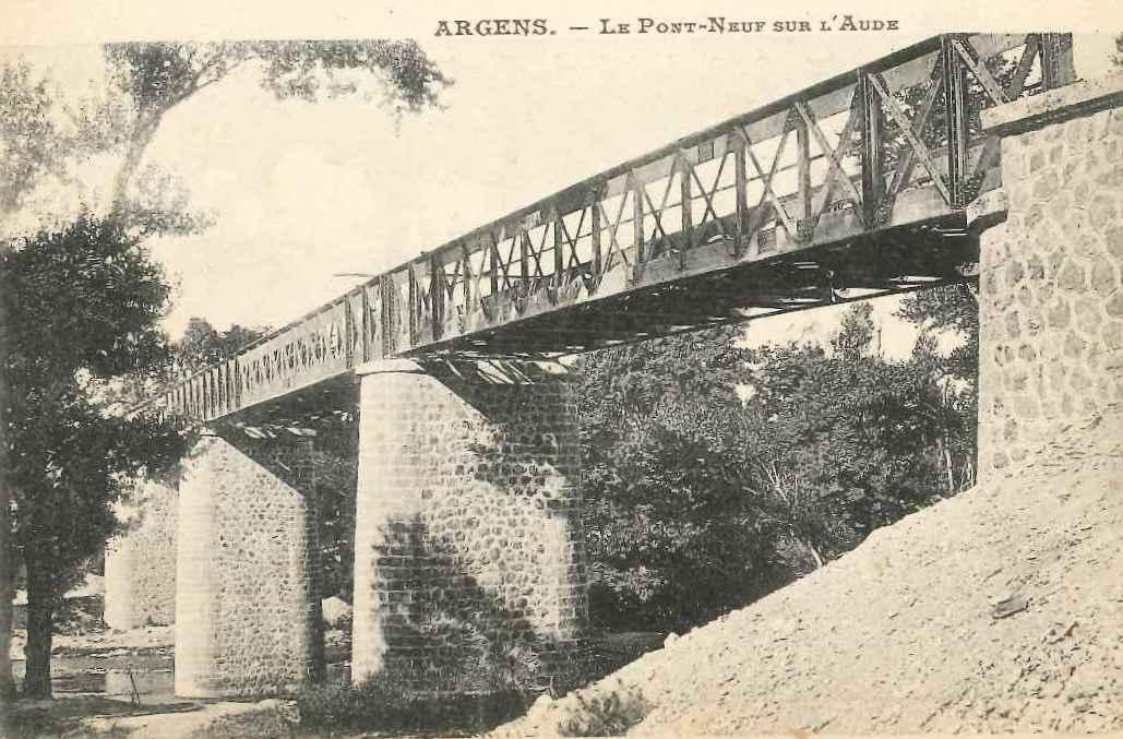 Pont en fer sur l'Aude