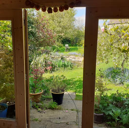 View from the garden studio