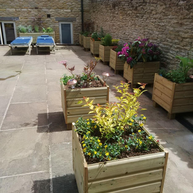 Courtyard planters