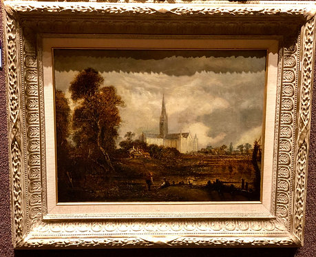 Village Landscape with Salisbury Cathedral By: John Constable