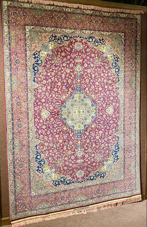 "9'11""X12 Very Fine Persian Wool & Silk Tabriz"