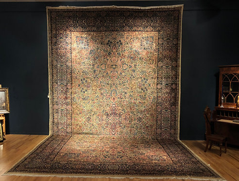 "13'7""X22'6"" Antique Persian Lavar Kerman"